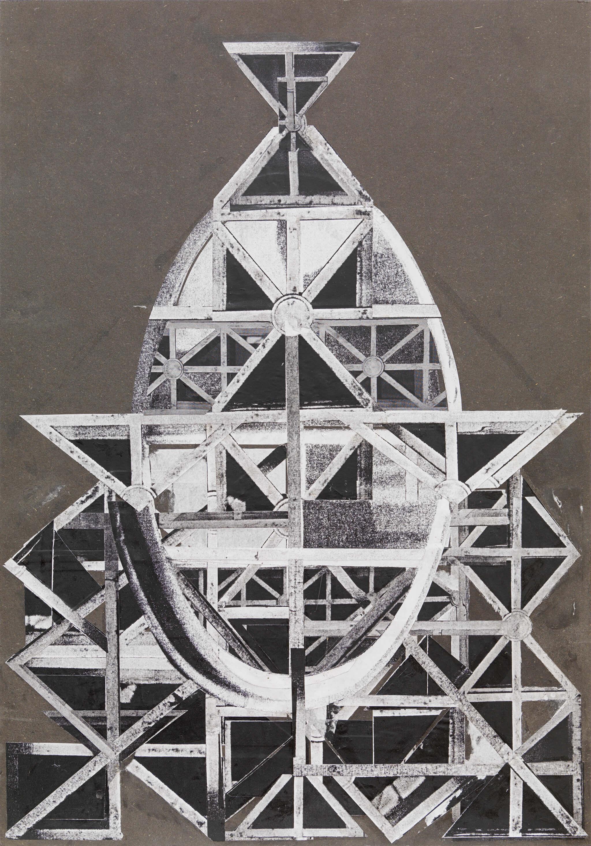 19_Frauke-Dannert_Collage_Papiercollage_-Altar-(Mollino_König)_2009