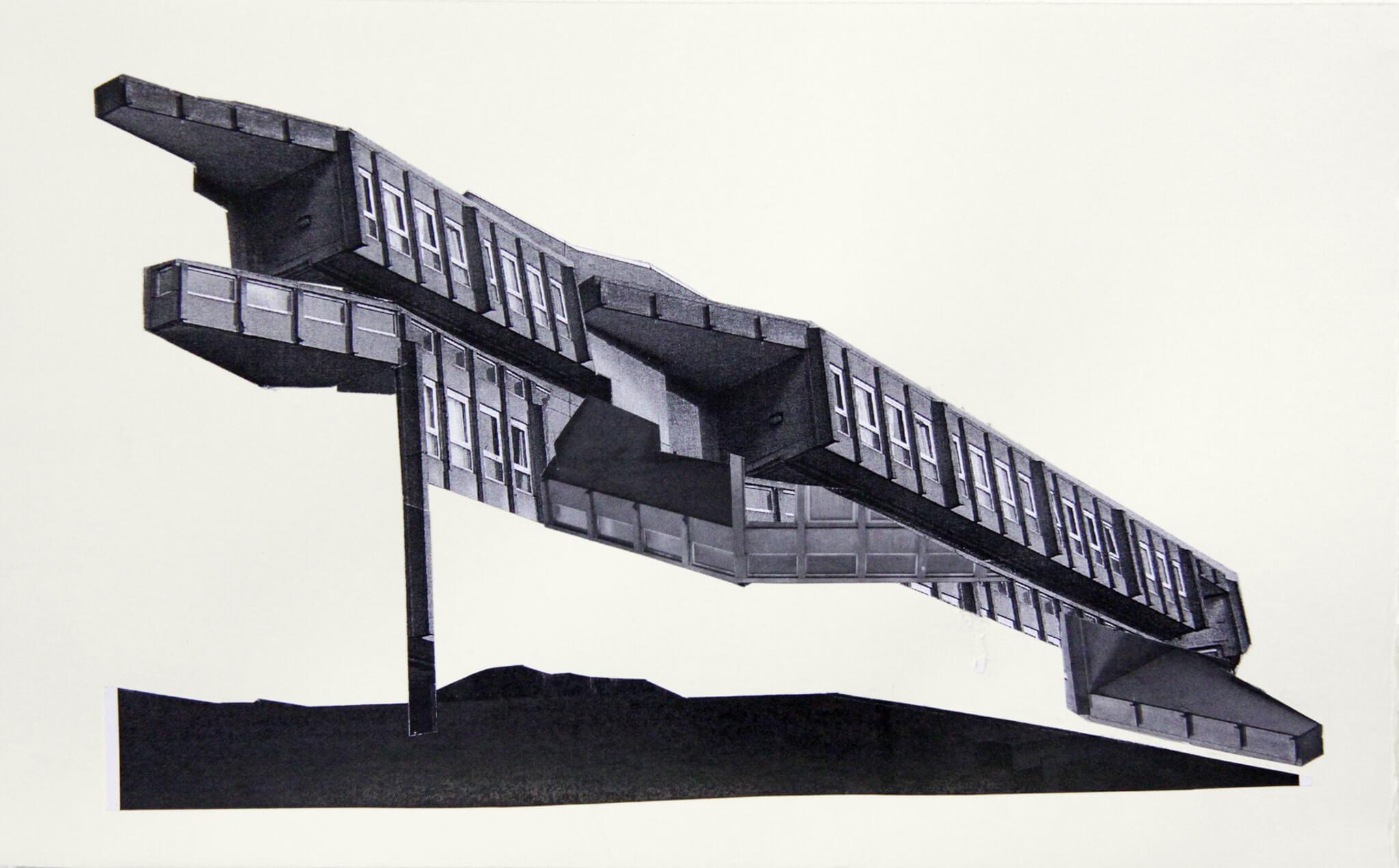 29_Frauke-Dannert_Collage_Papiercollage_Echse_2012