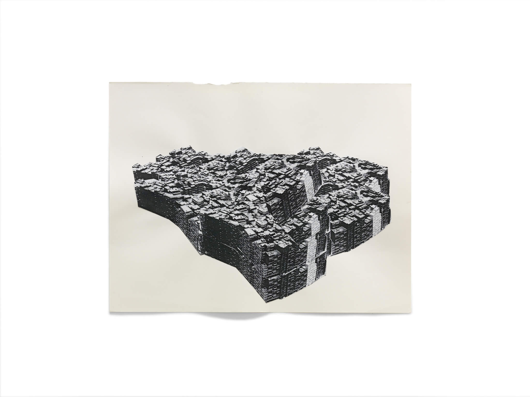 70_Frauke-Dannert_Collage_Papiercollage_Kowloon_2012