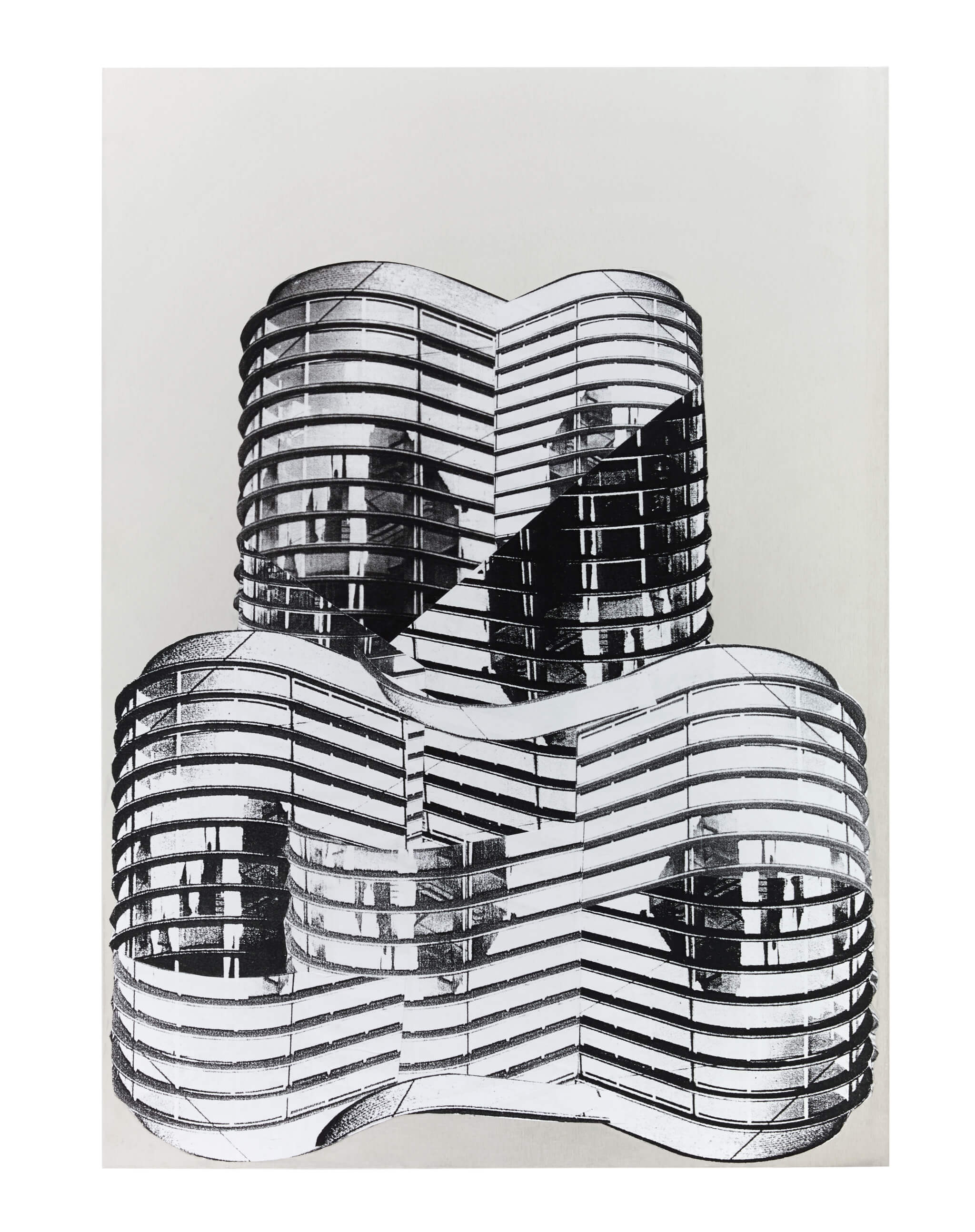 81_Frauke-Dannert_Collage_Papiercollage-auf-Aluminium_Ohne-Titel-2014