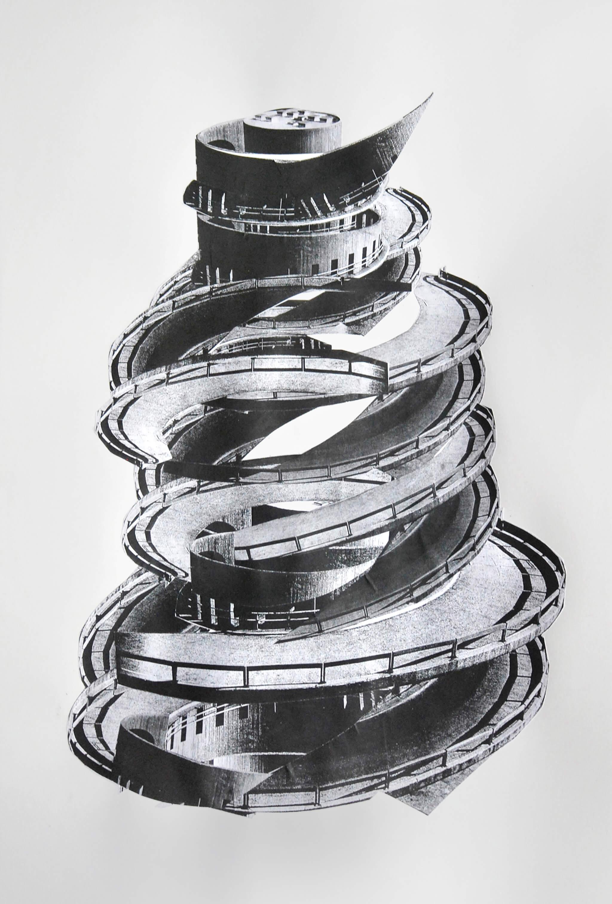 83_Frauke-Dannert_Collage_Papiercollage_Serpentine-II_2011