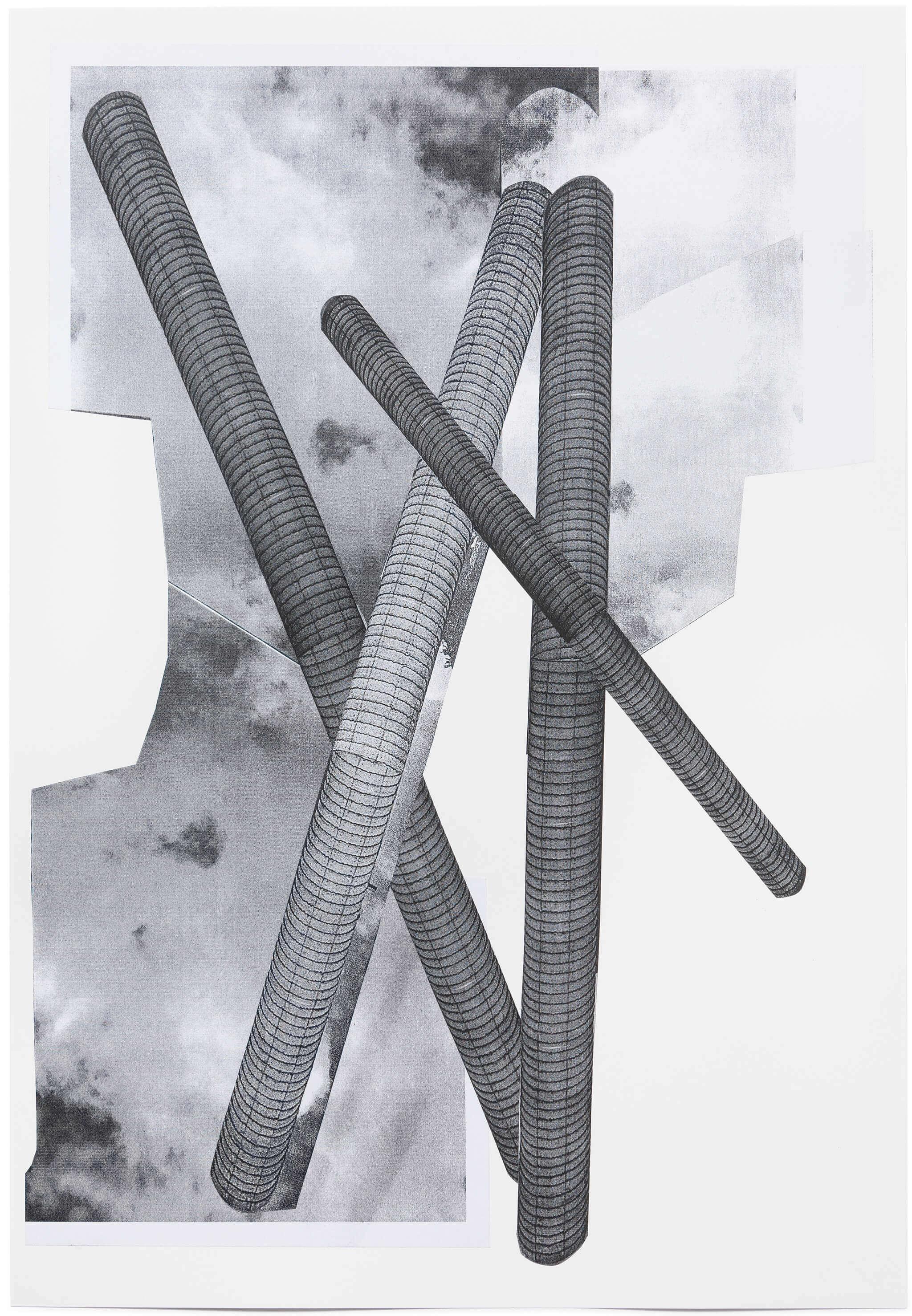 2015_04_Frauke Dannert_Collage_Papiercollage_Stele