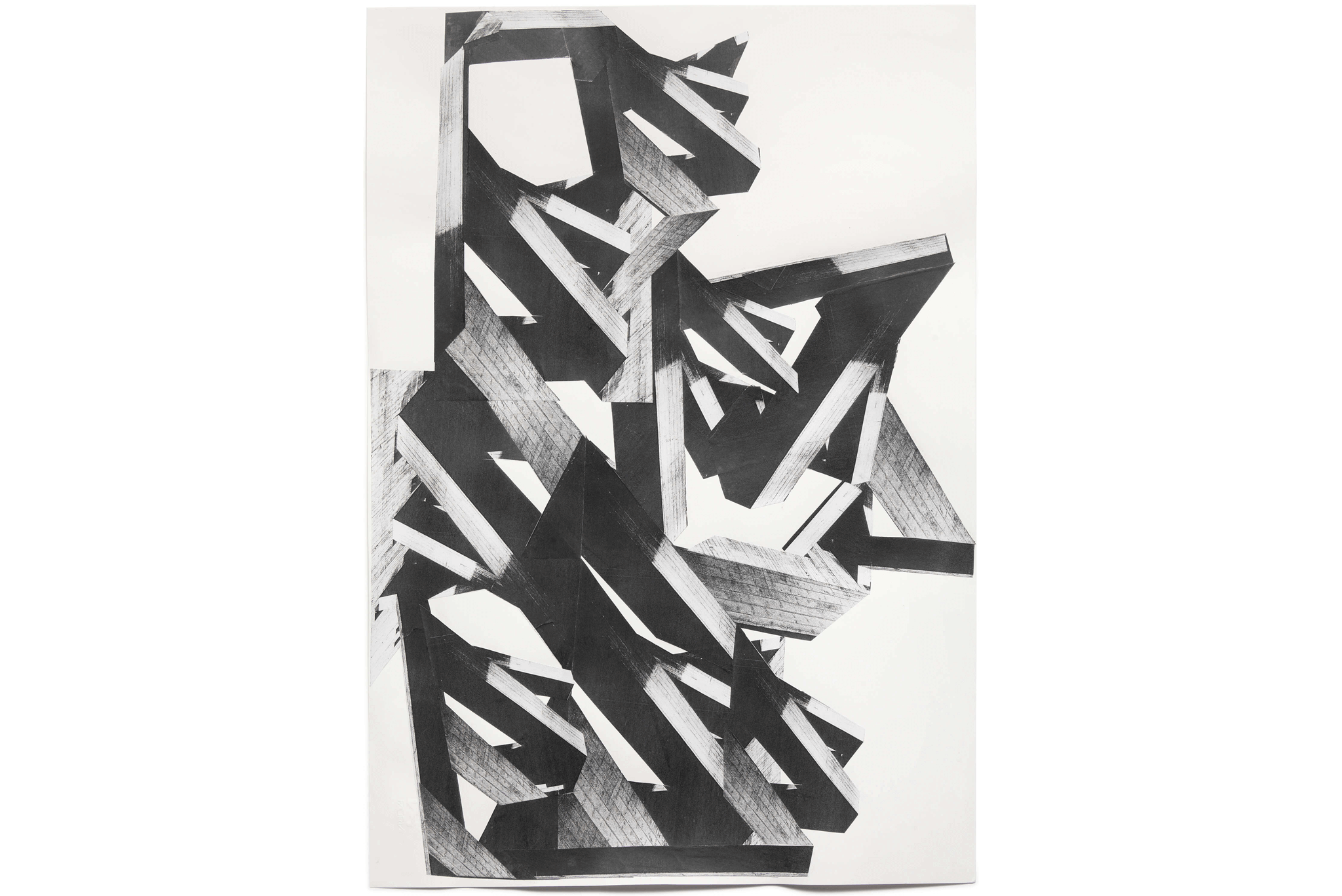 2014_13_Frauke-Dannert_Collage_Papiercollage_Geäst-Kopie